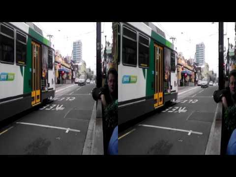 Melbourne Tram - 3D - Number 8 Tram - 3D HD