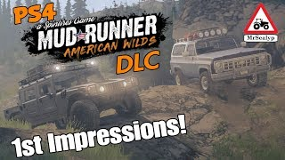 MUDRUNNER American Wilds, A Spintires Game: PS4 (1st Impressions!). NEW DLC/Expansion.