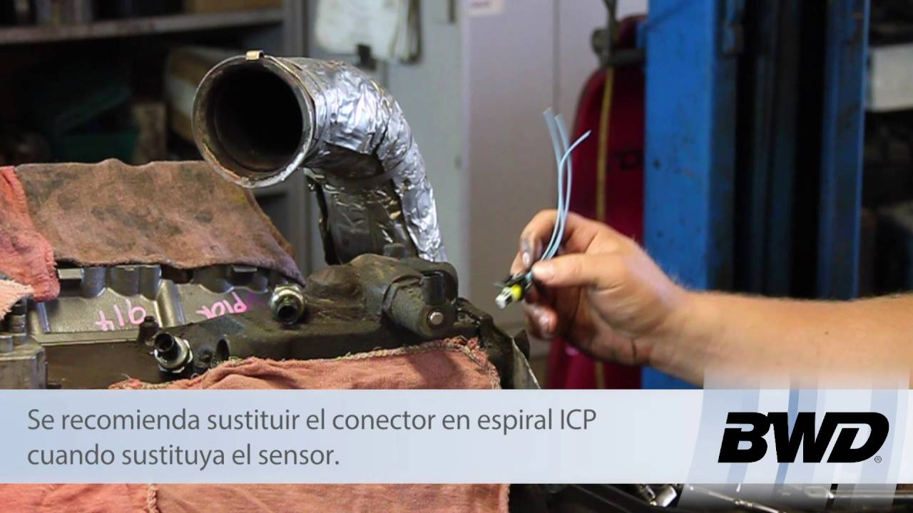 Reemplazo Del Sensor De Presin Control La Inyeccin Icp 2006 Ford F350 6 0 Ficm Relay Location 60l Powerstroke