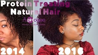 How To & Best Protein Treatment for Natural Hair! + Transformation Pics | ApHogee