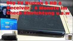 Sky TV Humax S HD 4 Receiver - 4 Monate im Check-Einrichtung u.s.w