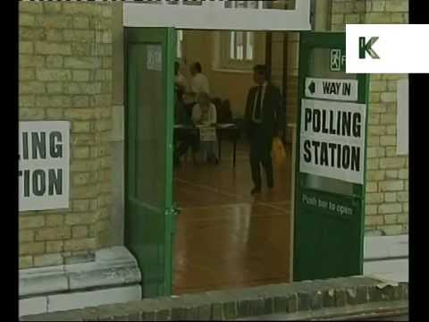 1997 UK General Election, People Voting, Polling Stations