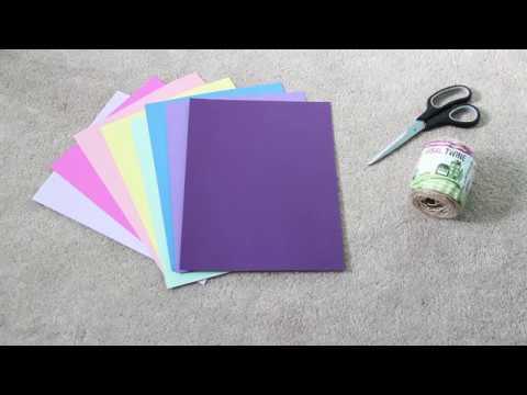 DIY Paper Star Garland 💕