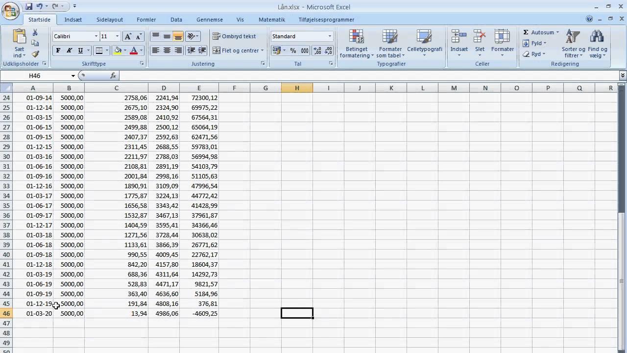 Lån i Excel (del 3) - YouTube