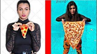 شوفوا اكبر قطعة بيتزا في العالم !!! *حطيت البيتزا تحت المايكروسكوب 🍕