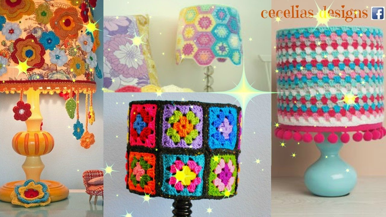 Crochet lampshade cover youtube crochet lampshade cover mozeypictures Gallery