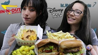 IN N OUT MUKBANG | EATING SHOW | DISNEY TRIVIA