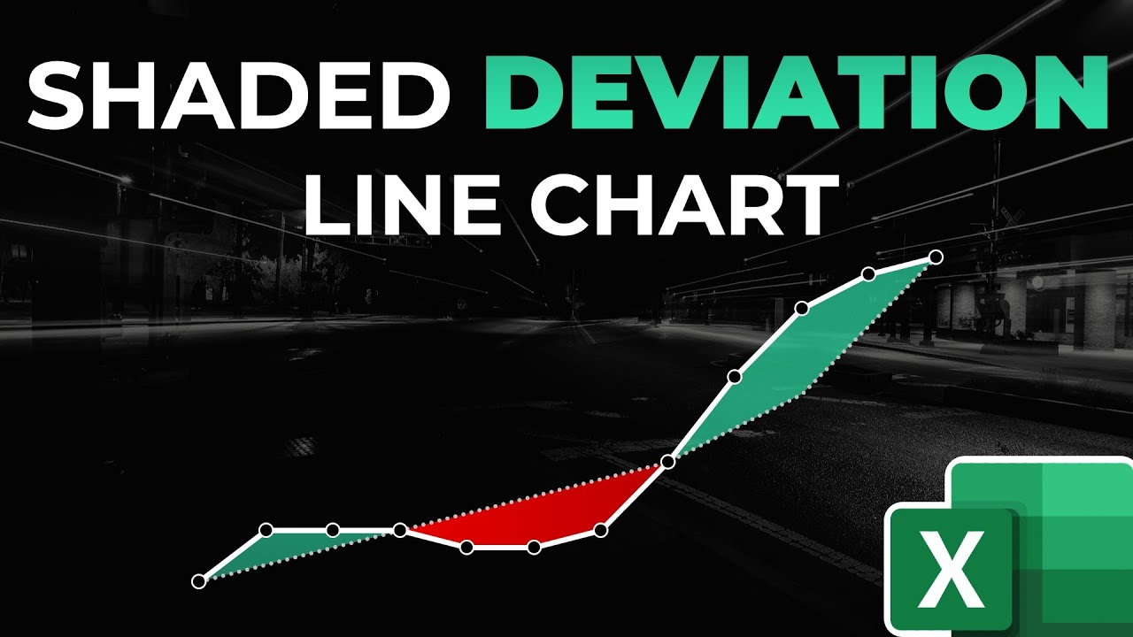 How to Create a Shaded Deviation Line Chart in Excel
