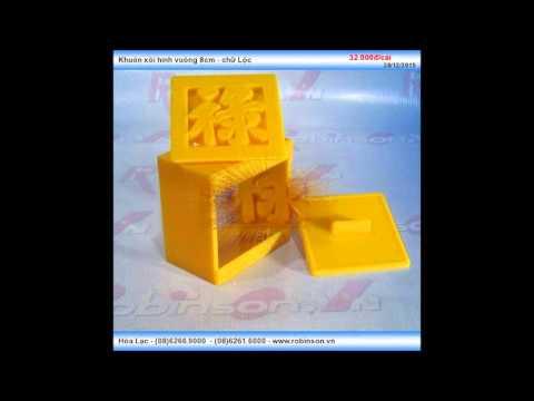 Khuôn xôi hình vuông 8cm bằng nhựa - chữ Lộc