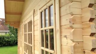 Обзор домика с верандой из минибруса.