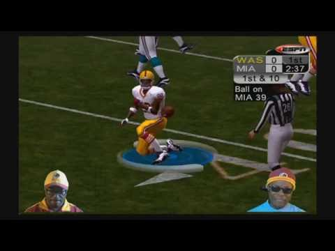 ESPN NFL 2K5  The Redskins Vs The Miami Dolphins  Xbox 360  YouTube