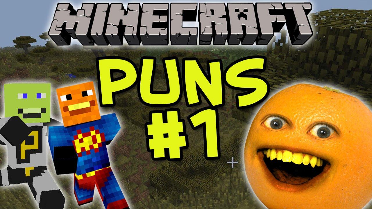 Annoying Orange Minecraft Puns 1 YouTube