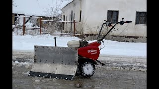 Homemade SNOW PLOW for MOTOCULTIVATOR