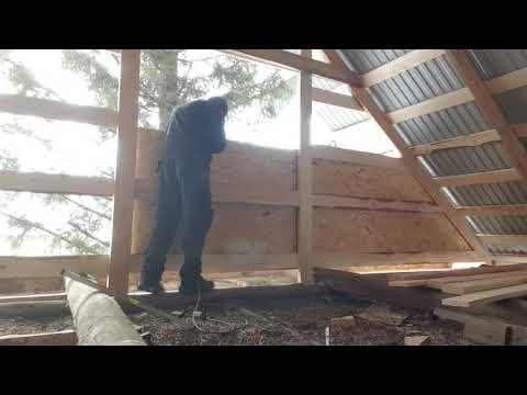 Как зашить фронтоны на бане