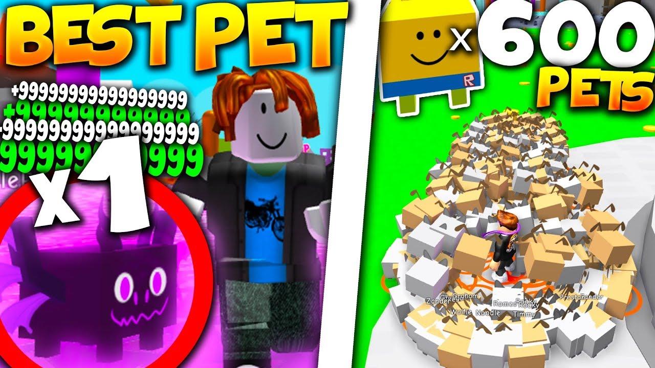 Worlds RAREST PET Vs 600 NOOB DOG PETS! (*BROKE GAME!*) - Roblox Pet Simulator