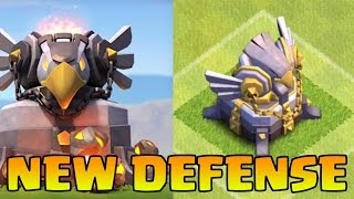 Clash Of Clans - NEW EAGLE ARTILLERY DEFENSE GAMEPLAY! CoC Town Hall 11 Update! (TH11 DEFENSE)