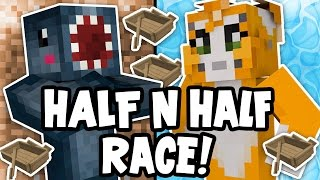 Minecraft - TIME TRAVELLERS! - HALF N HALF RACE! #31 W/Stampy & Ash!