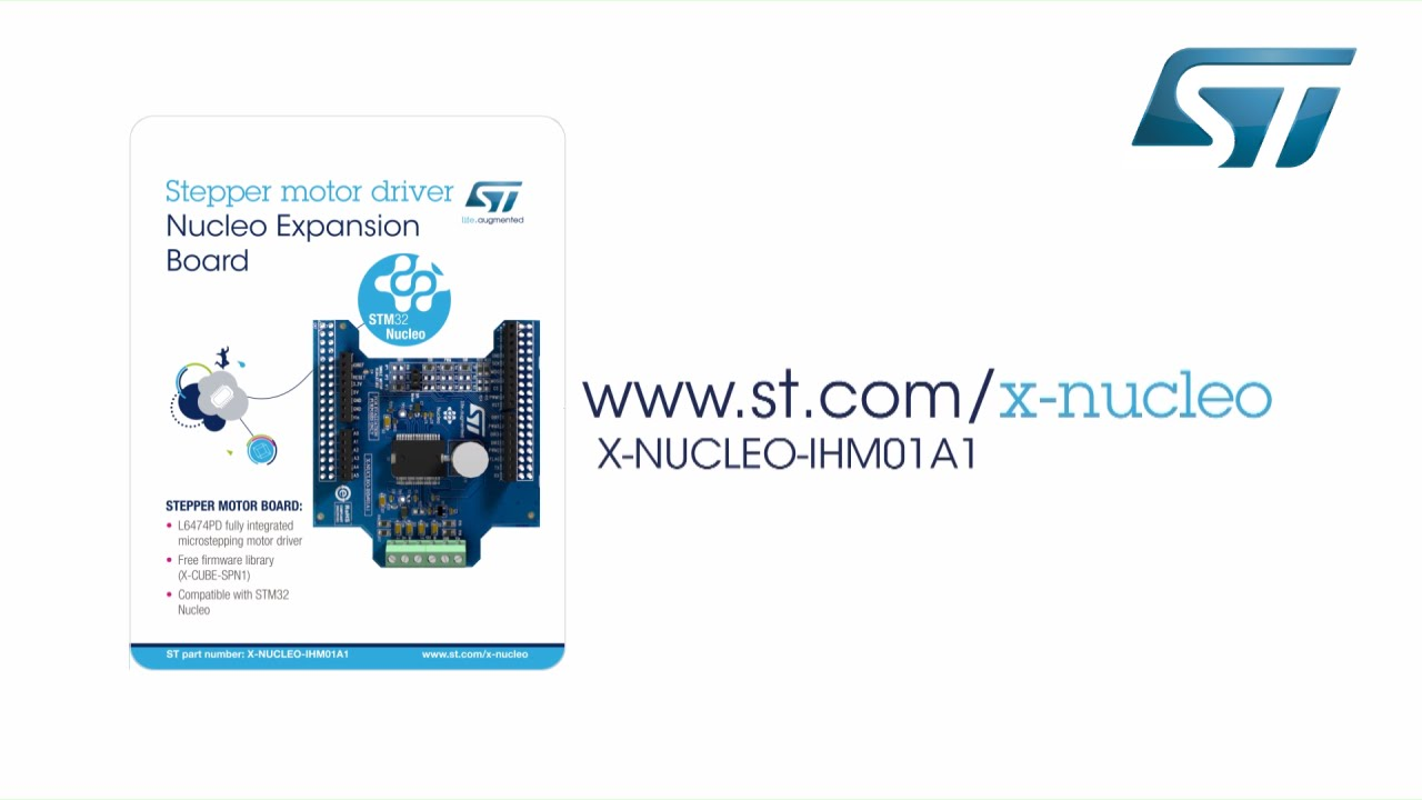 Getting started with Stepper motor driver L6474 expansion board (STM32 ODE,  X-NUCLEO-IHM01A1)