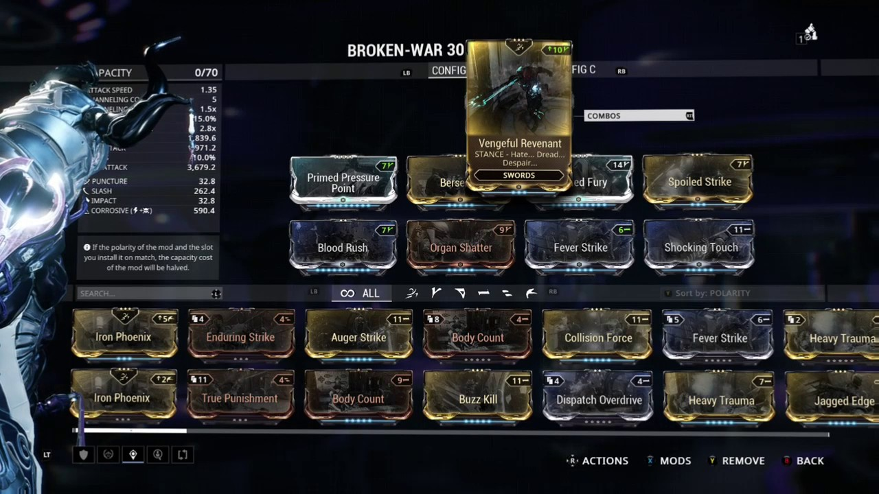 Warframe The Best Broken War Build Youtube