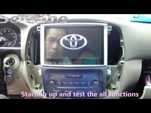 How To Install A 10.1 Inch  Toyota Land Crusier 100 Before 2004  Gps Radio With Bluetooth