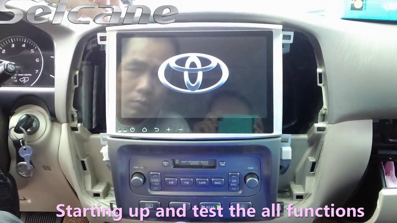 How to install a 10 1 Inch Toyota Land Crusier 100 before