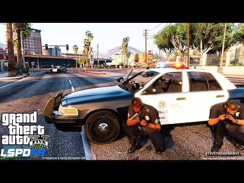GTA 5 LSPDFR EPiSODE 121 - LET'S BE COPS - CITY PATROL (GTA 5 PC POLICE MODS) CODE 99