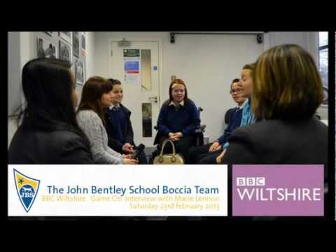 The John Bentley School Boccia Team on BBC Wiltshire