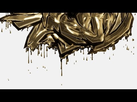 Dripping Gold Photoshop Action