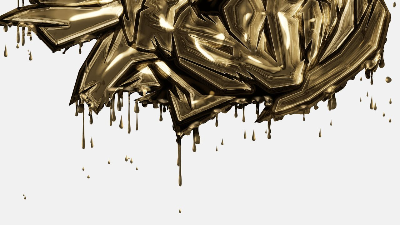 dripping gold photoshop action - youtube