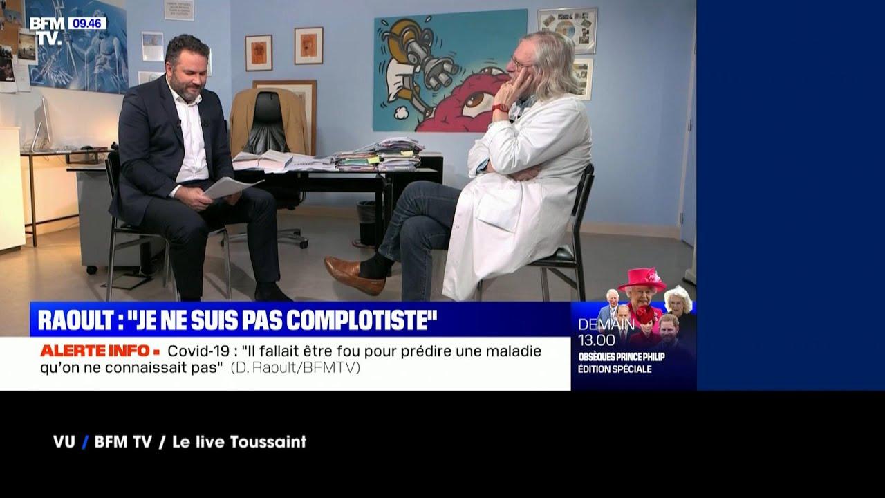 """Vu du 17/04/21 Didier Raoult : """"Ma santé ne vous regarde pas."""""""