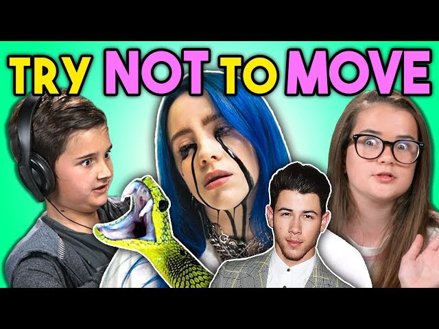 Kids React To Try Not To Move Challenge (Billie Eilish, Jump Scares, Jonas Brothers)