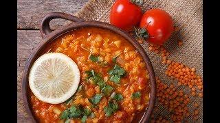 How To Make Red Lentil Dahl - آموزش درست کردن خوراک گیاهی دال در سه سوت