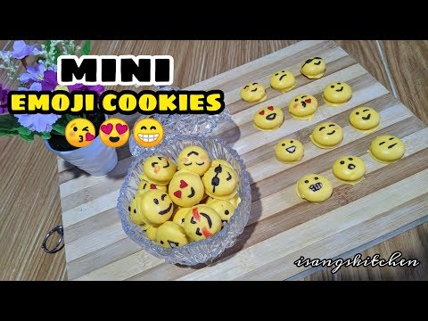 EASY DIY EMOJI MINI COOKIES (chocolate coated)