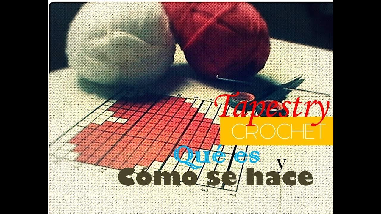 Crocheting Que Es : Tapestry crochet: quE es y como se hace (diestro) - YouTube