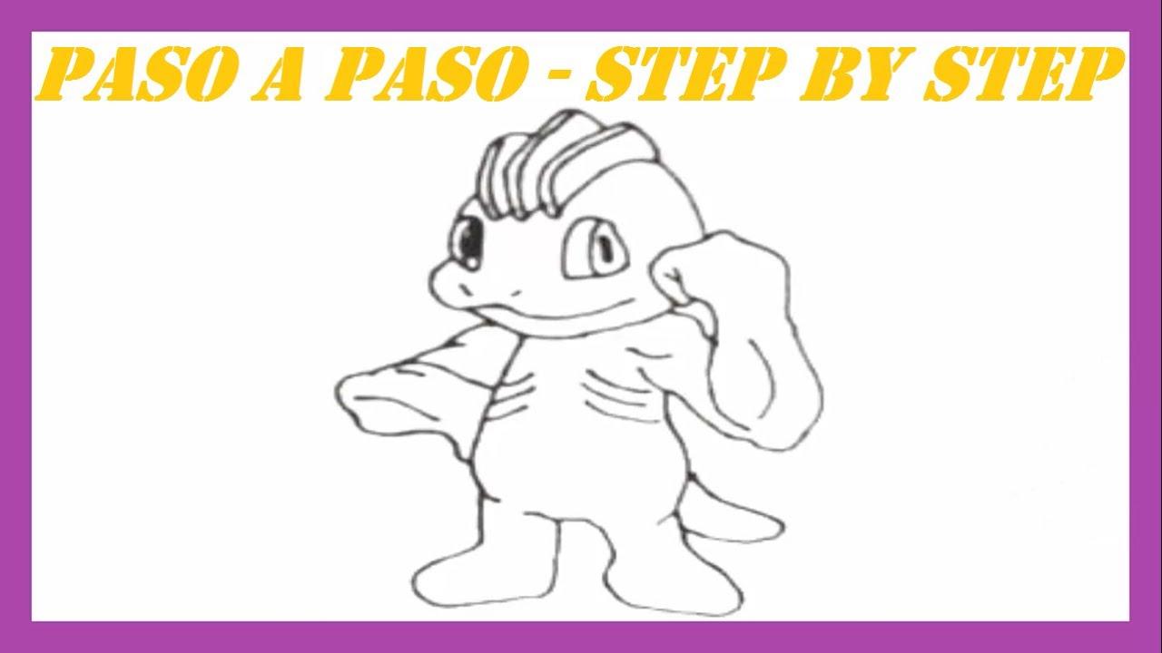 Como dibujar a Machop Pokémon l How to draw Pokemon Machop - YouTube