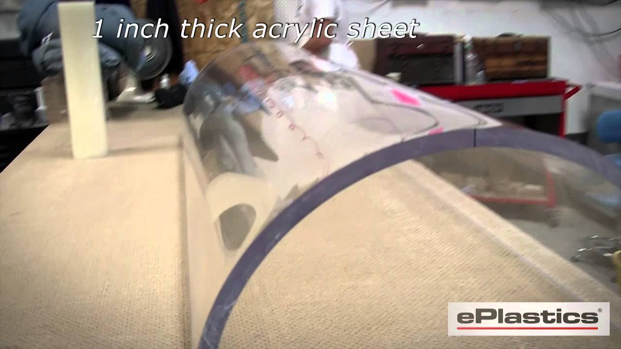 Thermoformed 1 Inch Thick Acrylic Sheet - YouTube