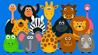 Learning Wild Animals For Kids Teaching Animals Video For Toddlers Stacking Tsum Tsum Style