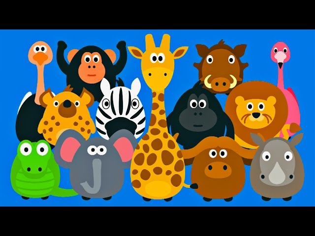 Learning Wild Animals For Kids Teaching Animals Video For Toddlers Stacking Tsum Tsum Style Youtube