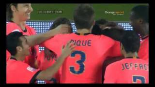 Estudiantes vs Barcelona 1-2 MESSI GOAL