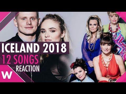 Iceland's Songvakeppnin 2018: 12 Songs (REACTION)