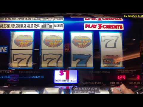 4 Reels - Max Bet $3 - Slot Machine Triple RED HOT @ Pechanga Resort Casino