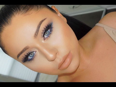 NAVY Blue Date Night Smokey Eye Makeup Tutorial
