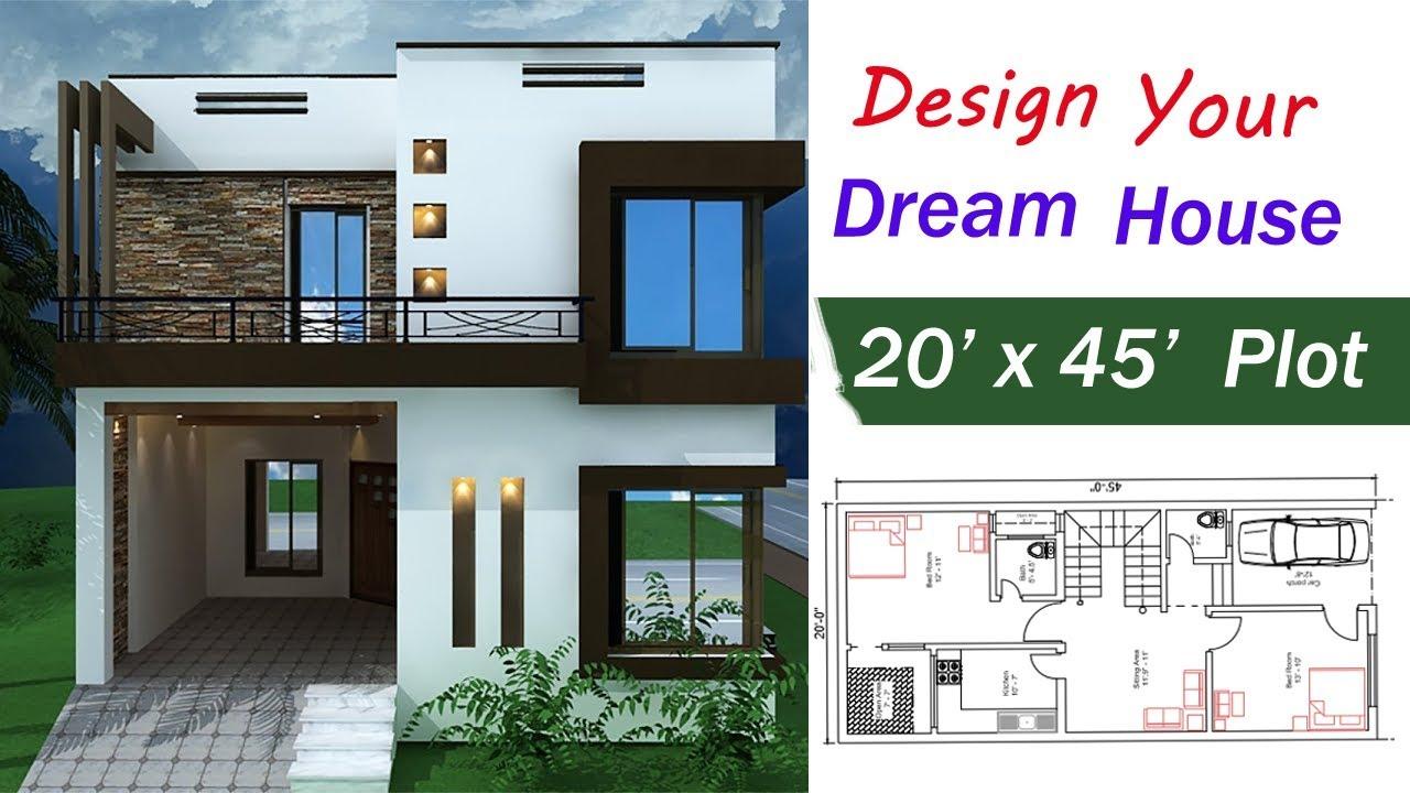 Exceptionnel 20 X 45 Ft House Design   Your Dream House 20 X 45 Ft   2019 House Design