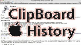 Clipboard History Mac OS X Jumpcut