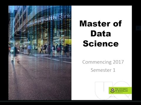 Master of Data Science - new to UQ in 2017