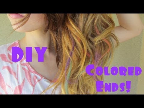 Diy colored ends using chalk hair chalking youtube