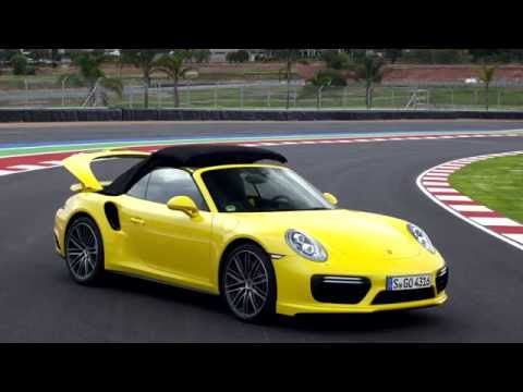 Porsche 911 Turbo Cabriolet in action