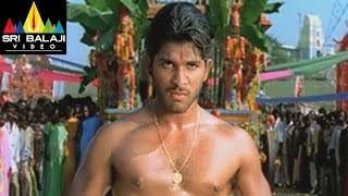 Allu Arjun Action Scenes  Bunny Movie Action Scenes  Sri Balaji Video