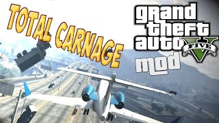 GTA V PC MODS - EL MOD MAS DESTRUCTIVO DE LA HISTORIA ! ( TOTAL CARNAGE) - FUNNY MOMENTS | BersGamer