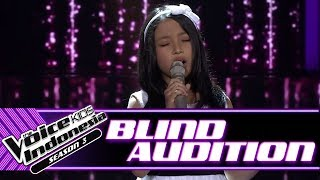 Devina - Perahu Kertas | Blind Auditions | The Voice Kids Indonesia Season 3 GTV 2018